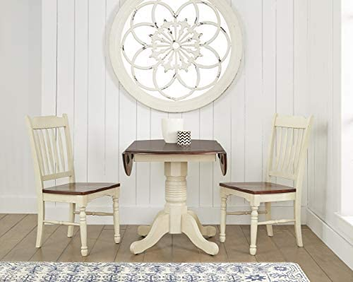 A-America British Isles 42 Round Double Drop-Leaf Dining Table