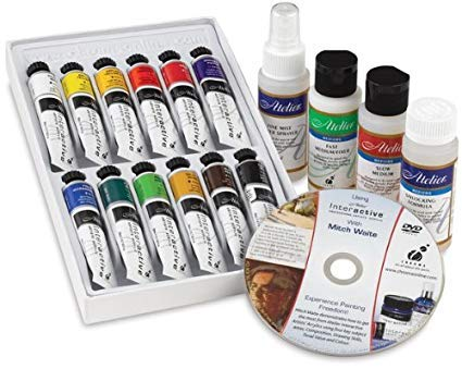 Chroma - Atelier Interactive Artists' Acrylic 12-Color & Mediums Set