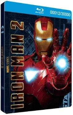 Iron Man 2: 3-Disc Combo Pack (Limited Edition - Iron Man Steelbook