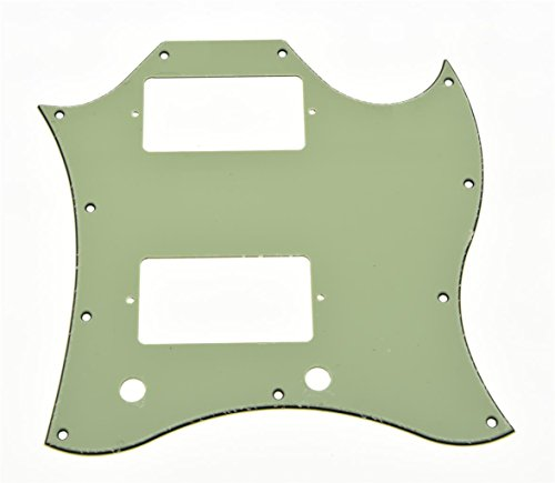 KAISH American Standard SG Guitar Full Face Pickguard fits USA Gibson SG Special Guitar Mint Green 3 Ply