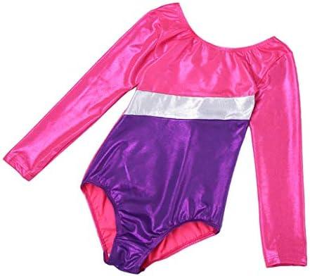 子供 体操 ヨガ ダンス 練習服 フィットネス レオタード 長袖 伸縮性 全3サイズ