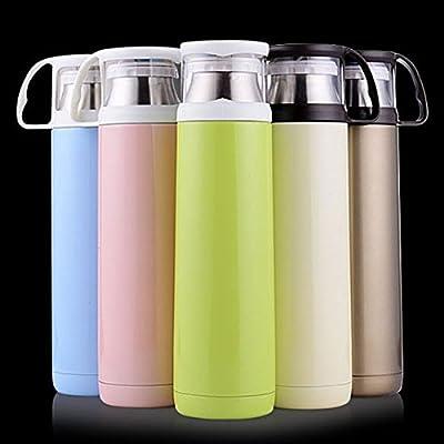 Generic 500ml coloré en acier inoxydable Thermos Mug de voyage vide pour bouteilles Thermos (Bleu)