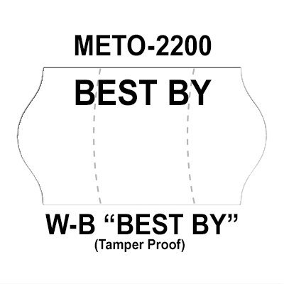 252,000 Meto compatible 2200 ''Best By'' White General Purpose Labels to fit the Meto 6.22, Meto 8.22 Price Guns. Full Case + includes 12 ink rollers. by Infinity Labels