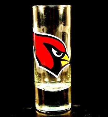 NFL Licensed Cordial Logo Hype Glass Shot Glass (2 Oz.) (Arizona Cardinals)