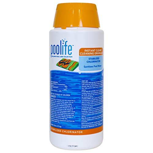 Chlor Granules (Poolife Instant Clear Cleaning Granules 5 Lbs)