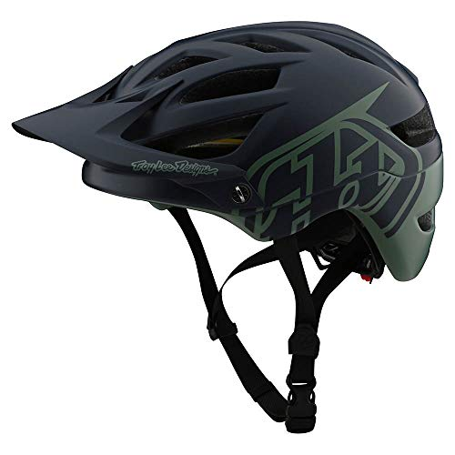 Troy Lee Designs Adult | Trail | All Mountain | Mountain Bike A1 MIPS Classic Helmet (XS, Navy/Seafoam)