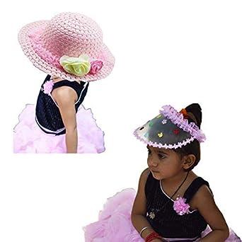 INFInxt Sun Protection Jute HAT   Visor Cap for Girls for Makkar-sankranti  Festival ( 549c78d656c2