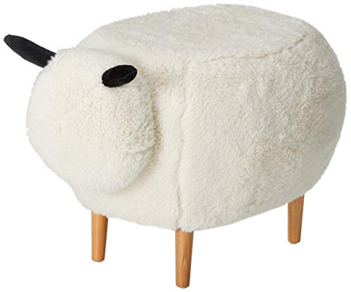 Christopher Knight Home 299781 Living Brebis White Velvet Sheep Ottoman, (Pouf Velvet Ottoman)