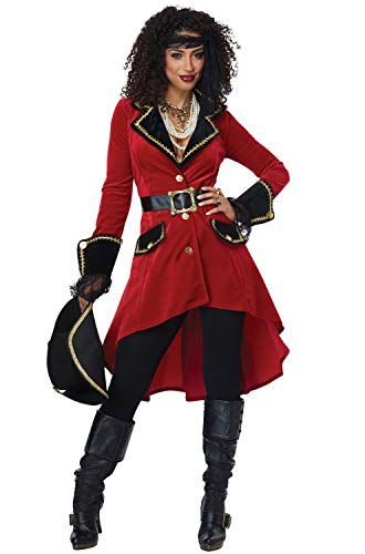 California Costumes Women's High Seas Heroine - Adult Costume Adult Costume,  -Red/black, X-Large