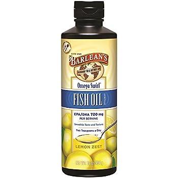 Barlean's Organic Oils Omega Swirl Fish Oil, Lemon Zest, 16-Ounce