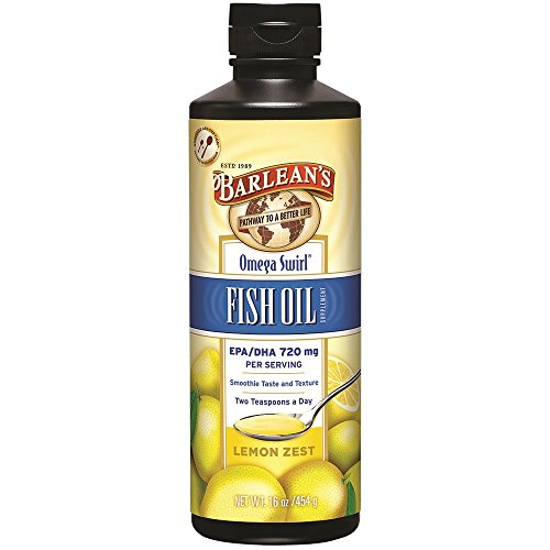 Fish Oil Lemon Flavor - Barlean's Organic Oils Omega Swirl Fish Oil, Lemon Zest, 16-Ounce