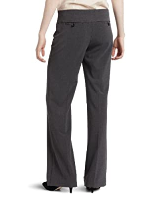 My Michelle Juniors Wide Waistband Three-Button Tab Pant