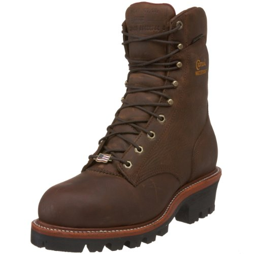 "Men's Chippewa® 9"" Waterproof Steel Toe Super Loggers Bay Apache, BAY APACHE, 8MW"