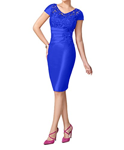 Damen Charmant Pink Festlichkleider Royal Taft Knielang Etuikleider Blau Abendkleider Kurz Brautmutterkleider Hqpqd