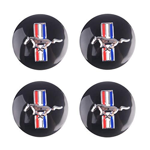 Bearfire 4 x 56.5mm Car Lettering BBS Wheel Center Cap Sticker Wheel Emblem Badge Logo Stickers (Mustang)