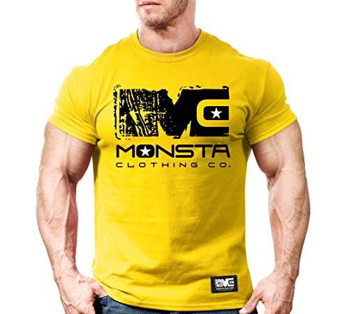 - MC-Icon Workout Clothes Gym T-shirt 2XL Yellow