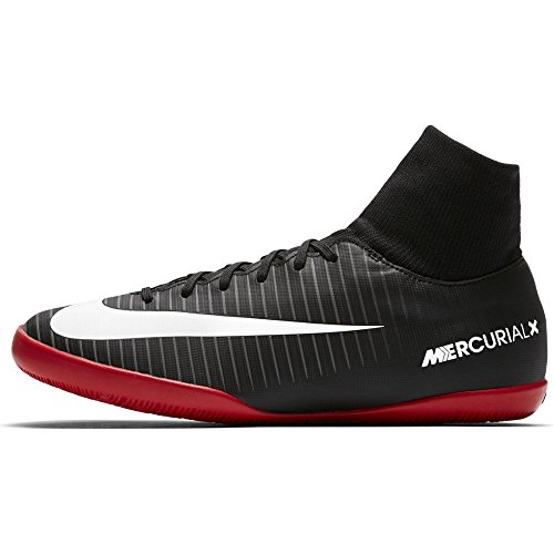 Nike Unisex Kids' Jr. Mercurial X Victory 6 Dynamic Fit Ic Footbal Shoes, Laser Orange/Black-White-V Black (Black/White-dark Grey-university)