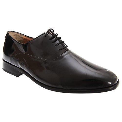 Oxford Herren Schwarz Schuhe Schnürschuhe Montecatini Glänzend Glanzleder 5zUxU