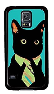 Best Samsung Galaxy S5 Case Cover Custom Phone Shell Skin For Samsung Galaxy S5 With Mr. Black Cat