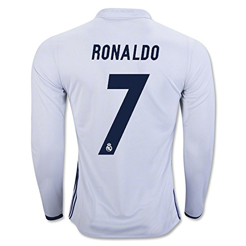 2007 Jersey Sleeve Long Team (Ronaldo # 7 Real Madrid Men's Long Sleeve Home Jersey 2016/17)