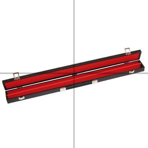 Cueball16 - Estuche duro para tacos desmontables de 2 piezas (81 x 8 x 5 cm), color negro, interior rojo