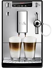 Melitta SOLO & Perfect Milk E957-103, Bean to Cup Coffee Machines, Automatic Cappuccino Maker, Silver