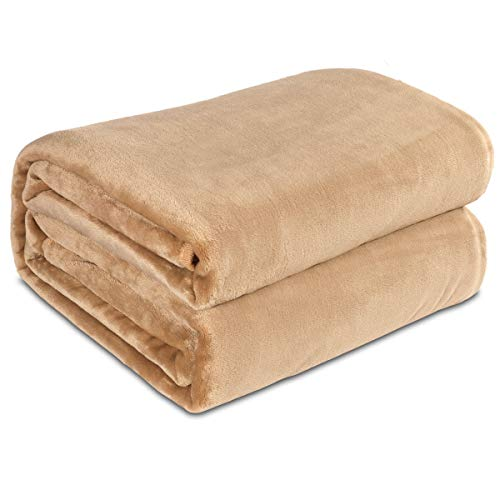 Maicico Flannel Fleece Throw Blanket, Breathable Soft Plush Microfiber for Couch/Sofa/Bed (Camel, 60