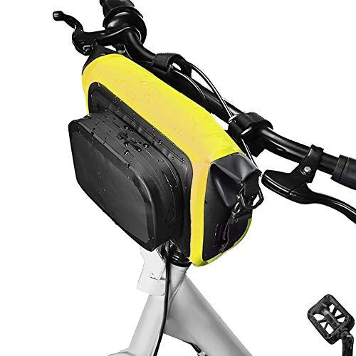 TOMSHOO Waterproof Bike Bag Multifunctional Front Bicycle Bag Cycling Handlebar Pannier Large Capacity MTB Bike Phone…