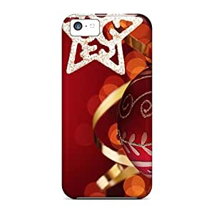 Protective Tpu Case With Fashion Design For Iphone 5c (christmas Shine)