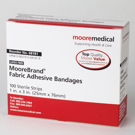 MooreBrand Adhesive Bandages Sheer Plastic Butterfly Medium, 1-5/8 x 3/8