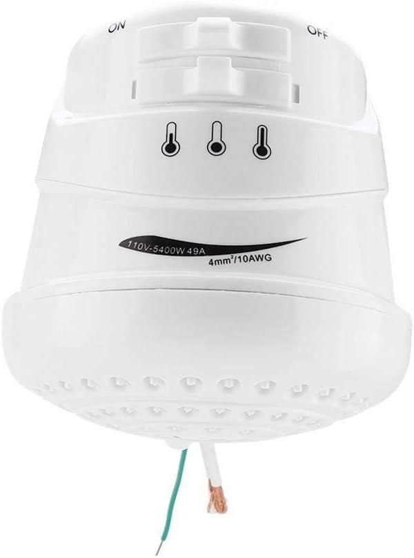 Tarente 5400W el/éctrico Calentador de Agua instant/áneo Ba/ño Suministros Calefacci/ón Cabezal de Ducha Manguera 110V