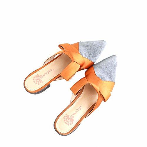 Chaussons Chaussures Papillon de À Noeud yellow L'Été Paresseux Les YUCH Plage SxB6qwOq