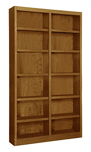 Wooden Bookshelves Double Wide 84