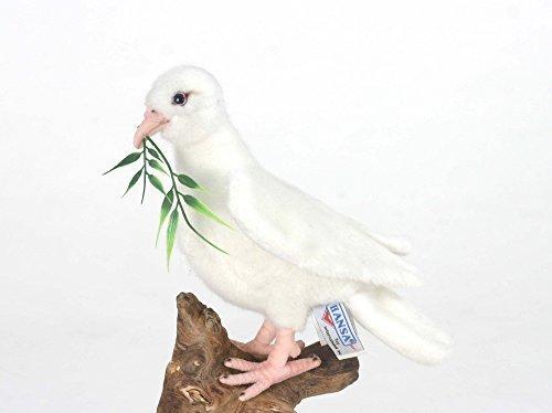 Plush Soft Toy bianca Dove. 20cm.by Hansa 5434 by Hansa