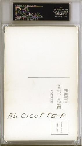 Al Cicotte Autographed Signed 3.5x5.5 Postcard Cleveland Indians #83961858 PSA/DNA Certified MLB Cut Signatures