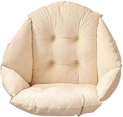 Peluche suave carcasa silla cojín asiento silla de comedor de jardín, Pad oficina cintura apoyo, beige, 4 concaves: Amazon.es: Jardín
