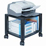 Kantek Two-Shelf Mobile Printer Stand STAND,PRNTR/FAX,BK ZEH10BP3-K6 (Pack of2)
