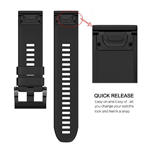 Fashioneey for Garmin Fenix 5 Band,Quick Release 22mm Silicone Smart Watch Replacement Strap for Garmin Fenix 5 / Forerunner 935