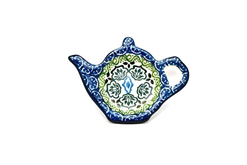 Polish Pottery Tea Bag Holder - Tranquility
