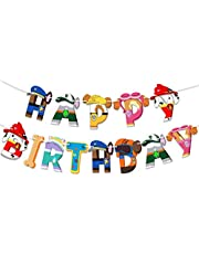 Paw Patro_l Banner Happy Birthday Party Supplies Dog Themed Party Decorations for Boys