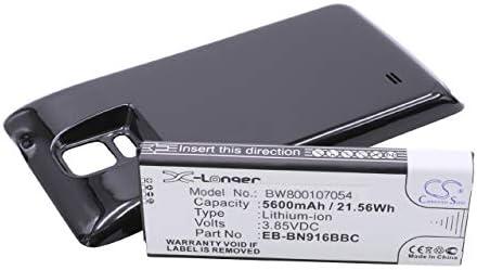 BATERÍA vhbw EXTENDIDA 5600mAh para Smartphone, teléfono móvil Samsung Galaxy Note 4, SM-N9100, SM-N9106W, SM-N9109W, SM-N910F por EB-BN916BBC.: Amazon.es: Electrónica