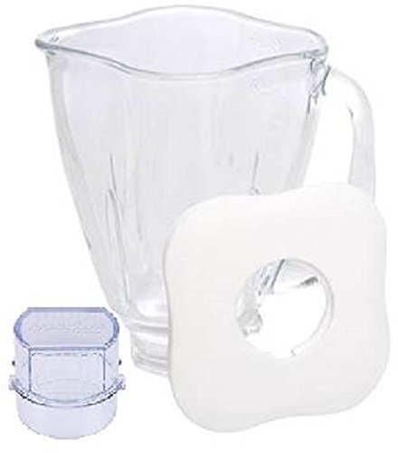 Oster Blender Replacement Jar - Oster 4918 5-Cup Glass Jar with Lid and Filler Cap Blender Accessory