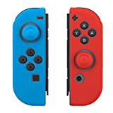 Kourpar Joy-Con (L/R) Silicone Protective Casing for Nintendo Switch Controllers with Thumb Grips Caps (2 Pairs Pack Blue/Red) For Sale