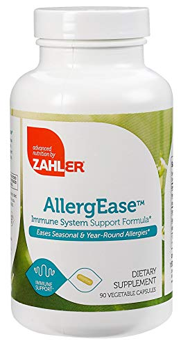 Zahler AllergEase, Advanced Formula for Allergy Relief, Helps Reduce Seasonal Discomfort and Histamine Control Supplement, Supports Healthy Immunity, Certified Kosher, 90 Capsules