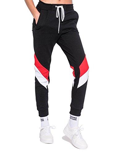 Minga London Red Colour Block Joggers Womens Pants Track Tracksuit Tumblr Grunge Retro 90s Kawaii Fashion