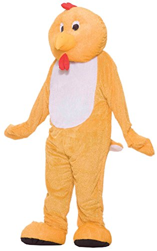 Chicken Mascot Costumes (UHC Chicken Plush Mascot Jumpsuit Funny Theme Party Halloween Costume, OS)