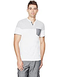 G by GUESS Men's Pasco Short-Sleeve Slit-Neck Tee