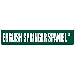 "English Springer Spaniel 4"" x 18"" Novelty Metal Street Sign Aluminum SS 1342 4"
