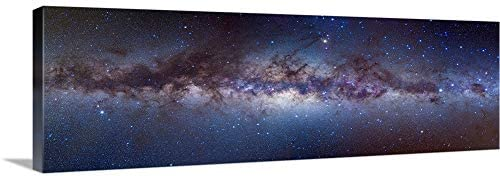 GREATBIGCANVAS Panorama View of The Center of The Milky Canvas Wall Art Print