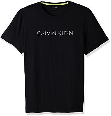 Calvin Klein Men's Short Sleeve Skinny Spliced Logo Graphic T-Shirt